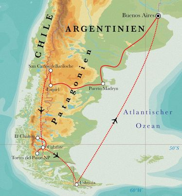 Route Rundreise Argentinien & Chile, 23 Tage