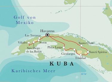 Route Kuba, 17 Tage Fahrradreise