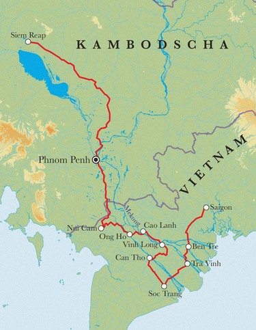 Route Vietnam & Kambodscha, 18 Tage Fahrradreise