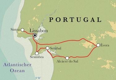 Route Portugal, 8 Tage Fahrradreise