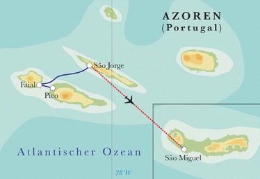Route Rundreise Azoren, 10 Tage