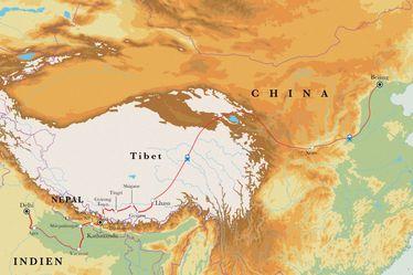 Route Rundreise Von Delhi nach Peking, 30 Tage