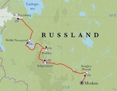 Route Russland, 10 Tage Fahrradreise