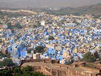 Indien Jodhpur Brahmanenhäuser Blue City