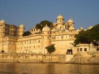 Indien Udaipur Stadtpalast