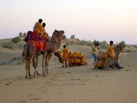 Indien Jaisalmer Kameldafari Wüste Thar
