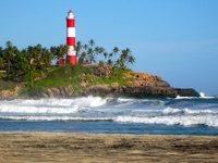 Leuchtturm, Kovalam Strand, Südindien