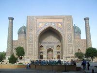 Samarkand, Registan Platz, Usbekistan
