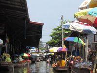 Schwimmender Markt Tha Kha, Bangkok, Thailand