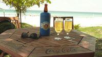 Brasilianisches Bier am Strand