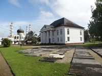 Paramaribo: Moschee neben Synagoge
