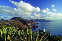Ausblick auf die liparischen Inseln