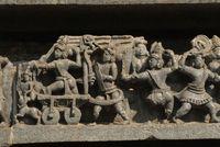 Belur, Tempel, Schnitzereien, Figuren, Südindien