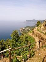 Wanderweg mit Ausblick aufs Meer
