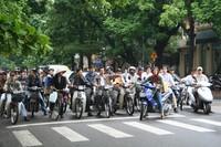 Saigons Verkehr - voller Motorräder