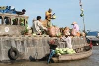 schwimmender Markt in Can Tho