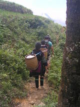 Hmong Volk in Sapa